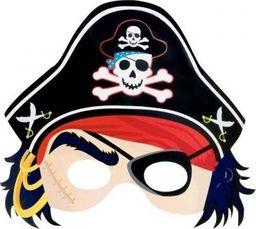 AMSCAN Maska pirata z kapeluszem - 1 szt. uniwersalny