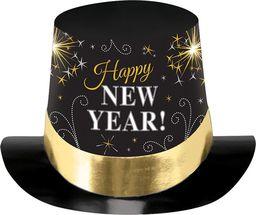 AMSCAN Kapelusz Happy New Year czarny - 1 szt. uniwersalny