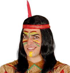 Guirca Peruka Indianina z piórkiem - 1 szt. uniwersalny