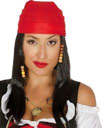 Guirca Peruka Pirat z czerwoną bandaną uniwersalny