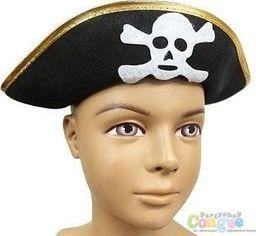 GoDan Czapka pirata ze złotym obszyciem - 1 szt. uniwersalny
