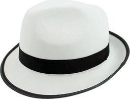 GoDan Kapelusz gangstera MICHAEL JACKSON biały z czarną lamówką - 1 szt. uniwersalny
