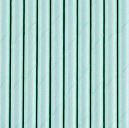 Party Deco słomki rurki błękitne 10 sztuk uniwersalne (40430)