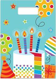 GoDan Prezentowe torebki urodzinowe Kolorowy Bal - 6 szt. uniwersalny