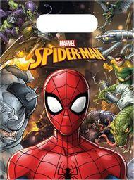 PROCOS Prezentowe torebki urodzinowe Spiderman Team Up - 6 szt. uniwersalny