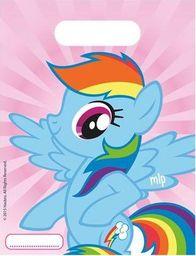 PROCOS Prezentowe torebki urodzinowe My Little Pony Rainbow - 6 szt. uniwersalny