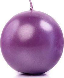 Party Deco Świeca Kula metaliczna, purpurowa - 6 cm - 1 szt. uniwersalny
