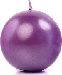 Party Deco Świeca Kula metaliczna, purpurowa - 8 cm - 1 szt. uniwersalny