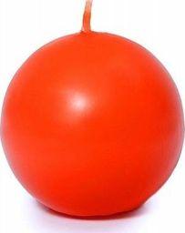 """Party Deco Świeca """"Kula"""" (Fi 80) matowa, pomarańczowa - 1 szt. uniwersalny"""