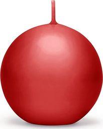 Party Deco Świeca Kula (FI 60) matowa, czerwona - 1 szt. uniwersalny