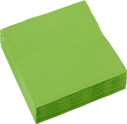 AMSCAN Serwetki zielone - 33 cm - 20 szt. uniwersalny