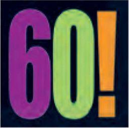 UNIQUE Serwetki na sześćdziesiąte urodziny - 33cm - 16 szt. uniwersalny