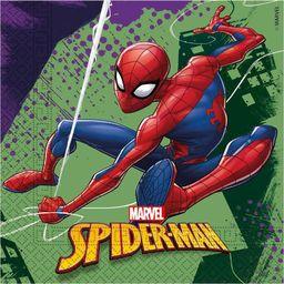 PROCOS Serwetki urodzinowe Spiderman Team Up - 33 cm - 20 szt. uniwersalny