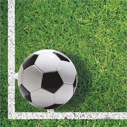 PROCOS Serwetki urodzinowe Football Party - 33 cm - 20 szt. uniwersalny