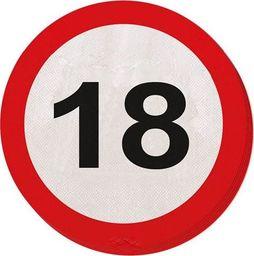 Folat Serwetki Znak zakazu 18tka - 33 cm - 20 szt. uniwersalny