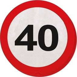 Folat Serwetki Znak zakazu 40tka - 33 cm - 20 szt. uniwersalny