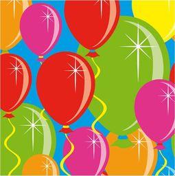 Folat Serwetki urodzinowe Baloniki - 25 cm - 20 szt. uniwersalny