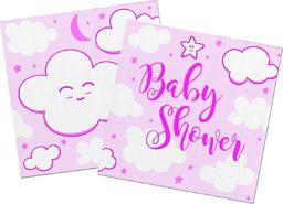 Folat Serwetki na Baby Shower dla dziewczynki - 25 cm - 20 szt. uniwersalny