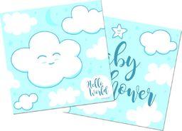 Folat Serwetki na Baby Shower dla chłopca - 25 cm - 20 szt. uniwersalny