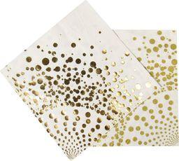 Folat Serwetki urodzinowe złote kropki - 33 cm - 16 szt. uniwersalny