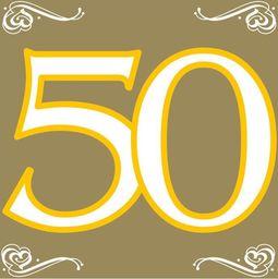 Folat Serwetki na pięćdziesiąte urodziny - 33cm - 20 szt. uniwersalny