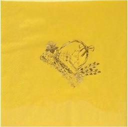 Gaj Serwetki wielkanocne Koszyczek żółte - 33 cm - 20 szt. uniwersalny