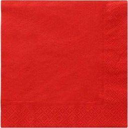 TAM Serwetki 3-warstwowe 33 cm, czerwone - 20 szt.  uniwersalny