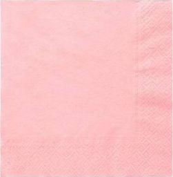 TAM Serwetki 3-warstwowe 33 cm, jasno różowe - 20szt.  uniwersalny
