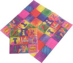 TAM Serwetki papierowe Happy Birthday I - 33 x 33 cm - 20 szt. uniwersalny