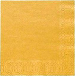 TAM Serwetki 3-warstwowe 33 cm, żółte - 20 szt.  uniwersalny