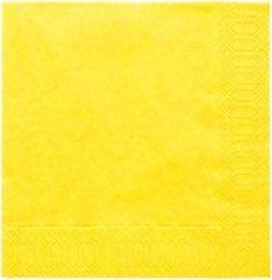 TAM Serwetki 3-warstwowe 33 cm, jasnożółte - 20 szt.  uniwersalny
