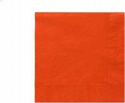TAM Serwetki 3-warstwowe 33 cm, pomarańczowe - 20 szt.  uniwersalny
