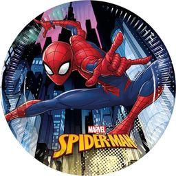 PROCOS Talerzyki urodzinowe Spiderman Team Up - 20 cm - 8 szt. uniwersalny