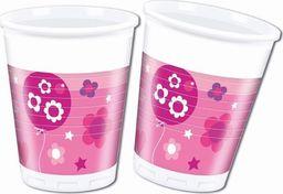 PROCOS Kubeczki papierowe Happy Birthday dla dziewczynki - 200 ml - 8 szt. uniwersalny