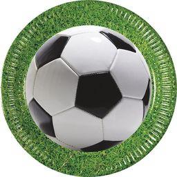 PROCOS Talerzyki urodzinowe Football Party - 23 cm - 8 szt. uniwersalny