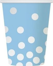 GoDan Kubeczki papierowe niebieskie w srebrne grochy - 270 ml - 6 szt. uniwersalny