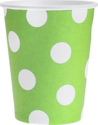 GoDan Kubeczki papierowe Grochy zielone - 270 ml - 6 szt. uniwersalny