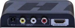 Techly Composite/SVideo/Audio zu HDMI Konverter mit Scaler