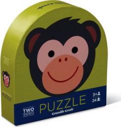 Crocodile Creek Puzzle dwustronne 24 elementów Małpka i przyjaciele