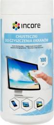 Incore Chusteczki nawilżane do czyszczenia ekranów TFT/LCD 100 szt. duża tuba (ISC1515)