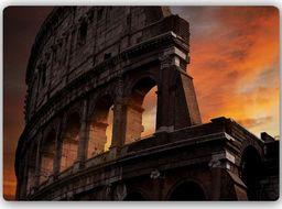 Plakat metalowy Feeby Wydruk na metalu, Colosseum po zmroku 30x20
