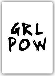 Plakat metalowy Feeby Wydruk na metalu, Girl Powe 20x30