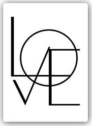 Plakat metalowy Feeby Wydruk na metalu, Love na białym tle 20x30
