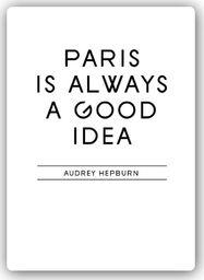 Plakat metalowy Feeby Wydruk na metalu, Paryż to dobry pomys 20x30