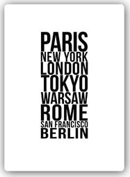 Plakat metalowy Feeby Wydruk na metalu, Paryż, Londyn, Tokio 20x30