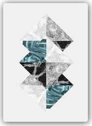 Plakat metalowy Feeby Wydruk na metalu, abstrakcyjne kwadraty 20x30
