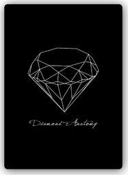 Plakat metalowy Feeby Wydruk na metalu, anatomia diamentu 20x30
