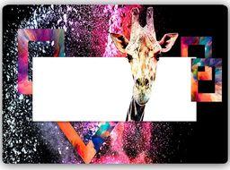 Plakat metalowy Feeby ciekawska żyrafa  30x20
