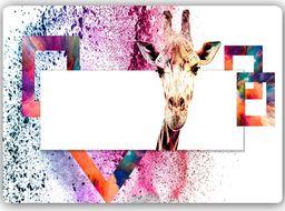 Plakat metalowy Feeby ciekawska żyrafa  30cmx20cm