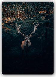 Plakat metalowy Feeby jeleń w zaroślach 20cmx30cm